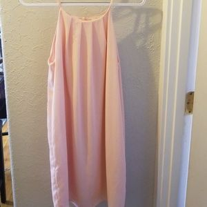 Pink halter summer dress